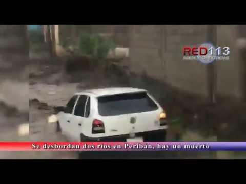 VIDEO Se desbordan dos ríos en Peribán, hay un muerto y varias afectaciones