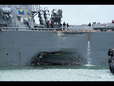 USS John S. McCain Collides with Merchant Ship