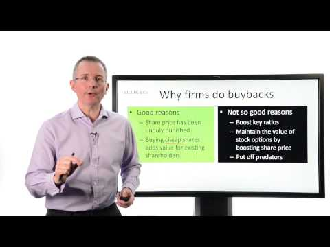 Tim Bennett Explains: What are share buybacks?