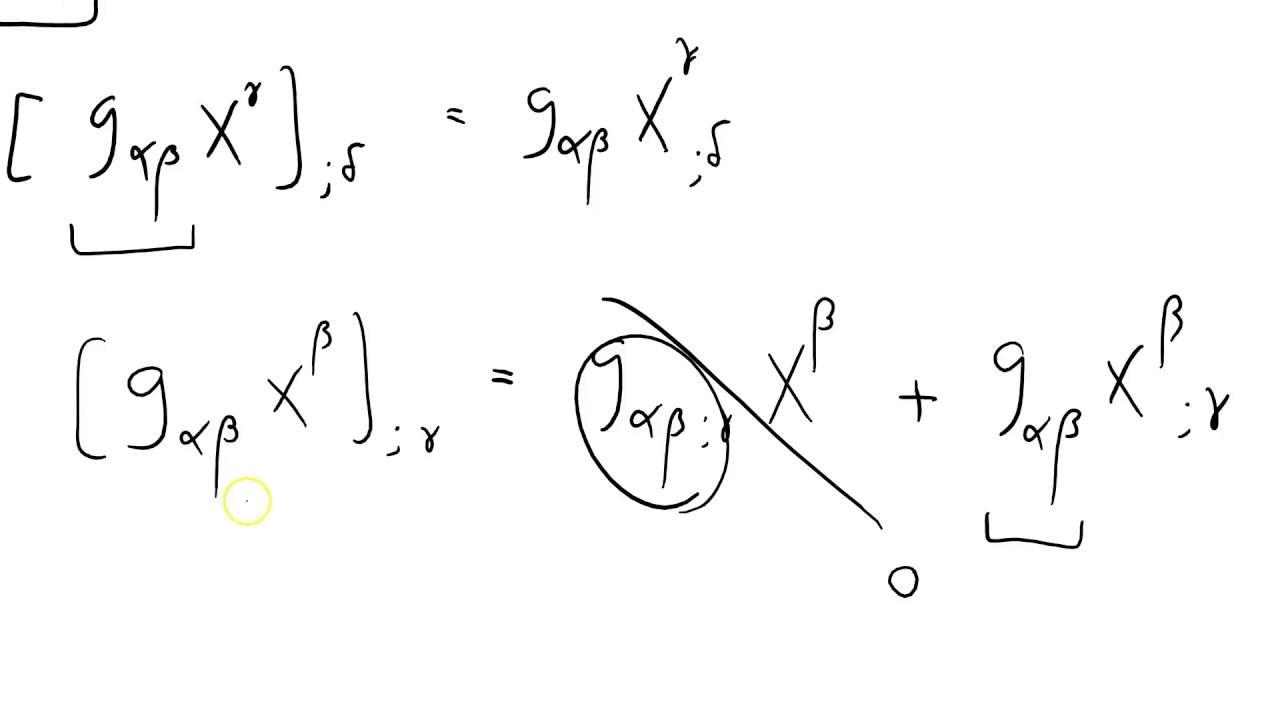 Covariant vs contravariant derivative