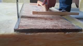 Prosty szablon do seryjnego cięcia np. wełny mineralnej