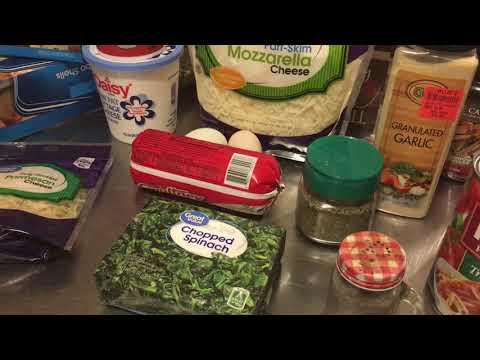 Spinach & Sausage Stuffed Shells