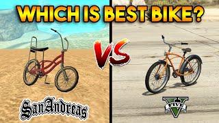 GTA 5 BIKE VS GTA SAN ANDREAS BIKE : WHICH IS BEST?