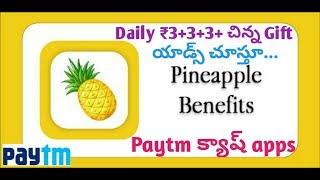 Pineapple benefits app earn money daily free paytm cash apps |Telugu