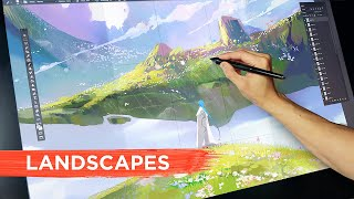 Top 5 Tips for Painting Environments & Landscapes!