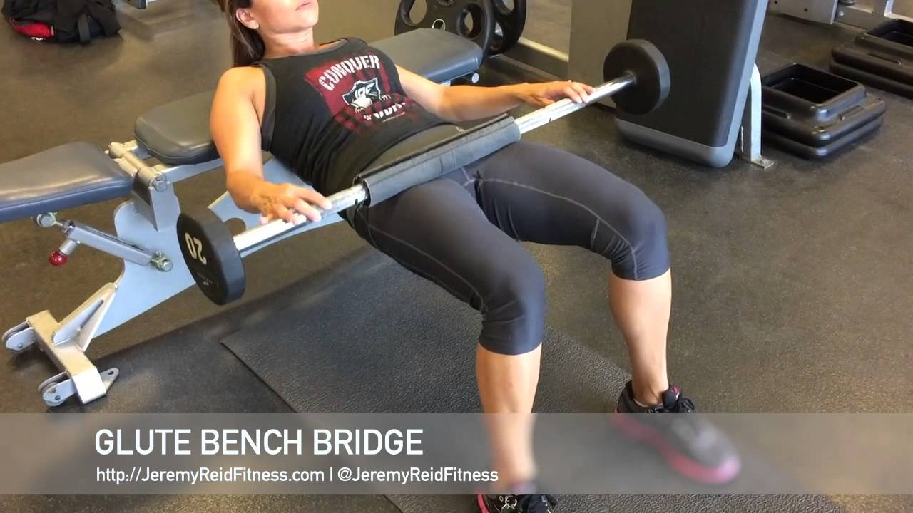Glute Bench Bridge Glute Butt Workout Youtube