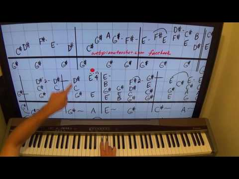 How To Play California Dreaming On The Piano - Chord Lesson