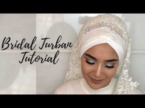 Bridal Turban Tutorial I Gelinbasi I Hochzeitsfrisur - YouTube