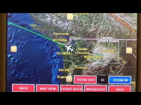 Seattle-to-Taipei flight: Night takeoff & night landing 2014-01-19