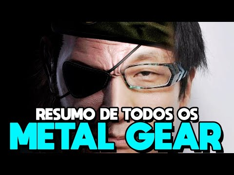 Metal Gear - RESUMO DE TODA A HISTÓRIA DA FRANQUIA COMPLETA