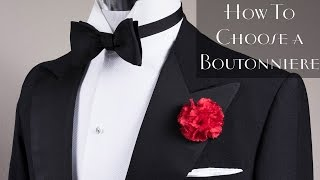 Lapel Flower Pin & Boutoฑniere Basics - How To Find The Right One For You