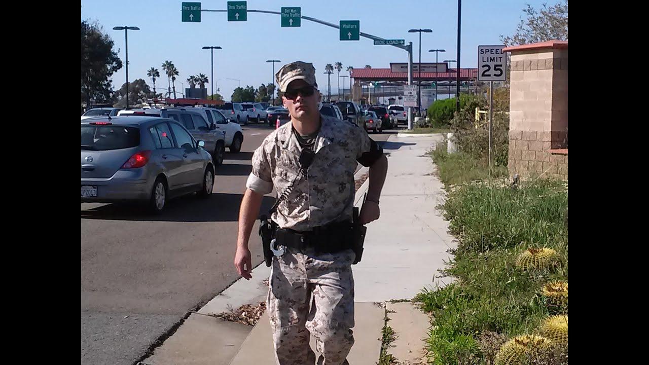 Camp Pendleton Marine MP Meets The Junkyard News - YouTube