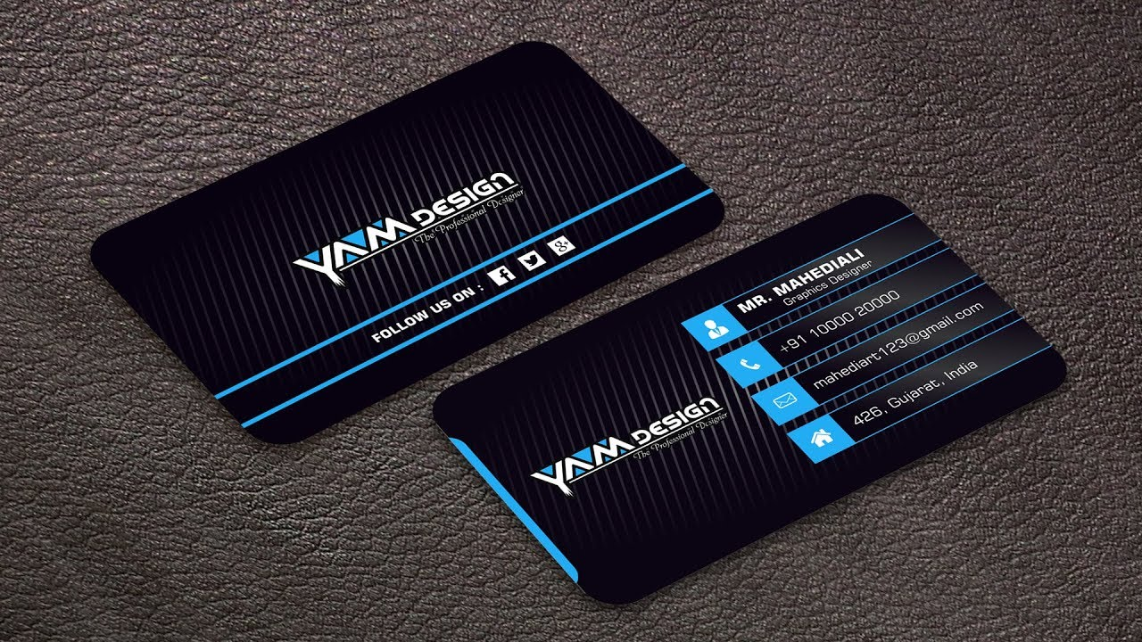 Latest business card design with download r file youtube latest business card design with download r file reheart Images