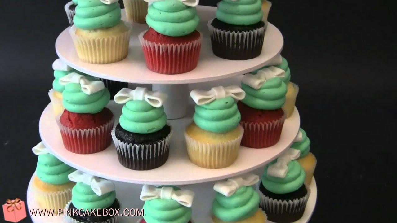 bridal shower gift box cupcake stand