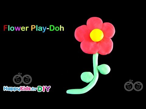 Flower Play Doh | PlayDough Crafts | Kid's Crafts And Activities | Happykids DIY
