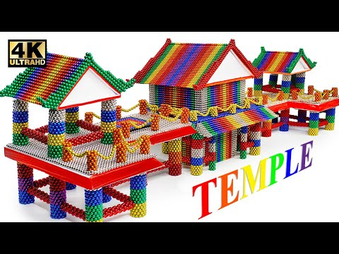 DIY - How To Build American Temple From Magnetic Balls (Satisfying) | Magnet World Series