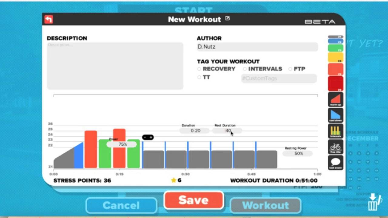 Building Custom Workouts in Zwift