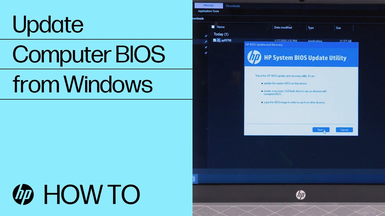 Update Your Hp Computer Bios From Windows Hp Computers Hp Youtube