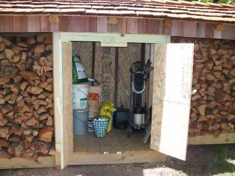 Firewood storage shed - YouTube