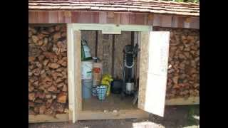 Firewood Storage Shed