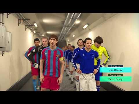 PES 2018 Cruzeiro Legends vs Classic Barcelona
