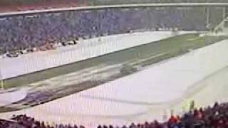 Clearing the field at Ralph Wilson Stadium