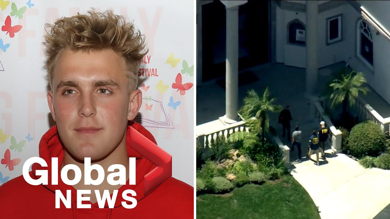 Aerial footage shows FBI raiding YouTube star Jake Paul's mansion