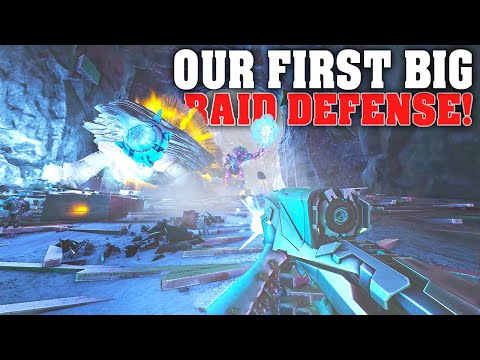 Our BIGGEST Defense Yet!! Raid Defense! | Ark Genesis Official Small tribes PVP E31