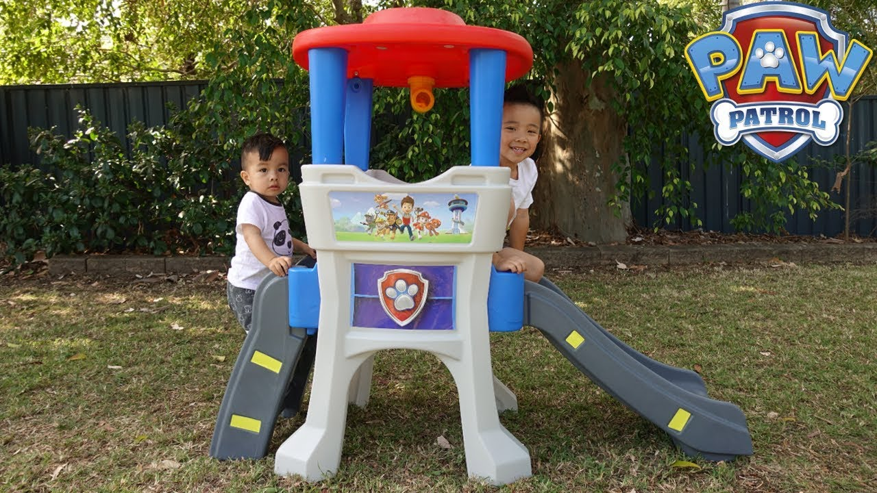 Paw Patrol Kids Toy Organizer Bin Children S Storage Box: Paw Patrol Lookout Climber Kids Outdoor Playtime Fun With