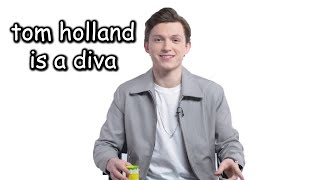 tom holland being a diva for 3 minutes straight