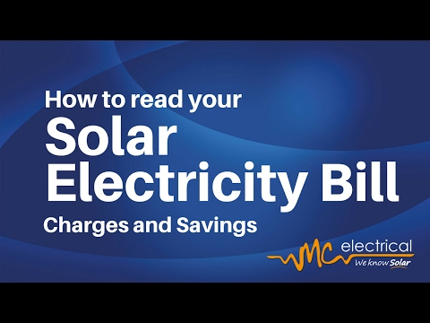 How To Read your Solar Electricity Bill - How To - Video 1