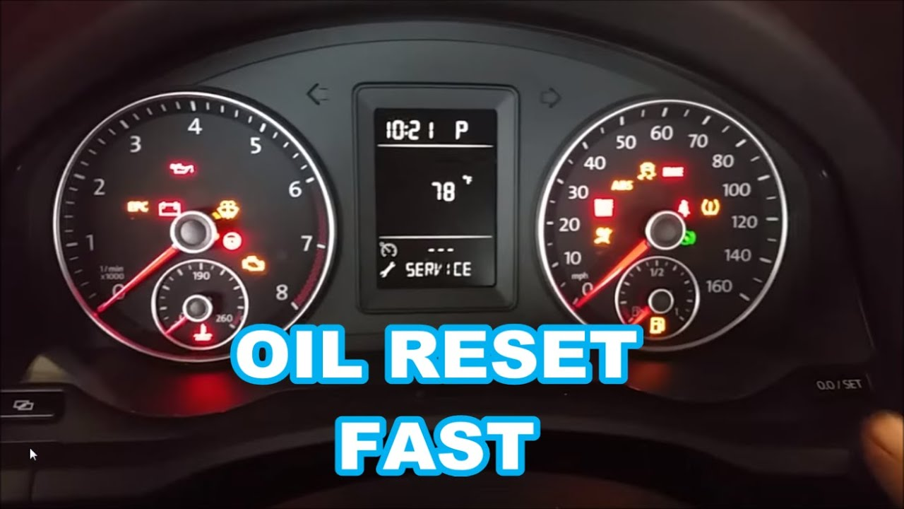 2010 VW JETTA OIL LIFE RESET IN 30 SECONDS wrench