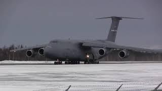 Lockheed C-5M Super Galaxy - Landing & Takeoff