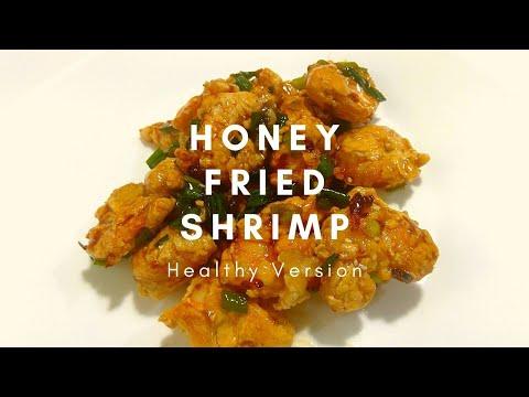 Honey Fried Shrimp Recipe *Healthy Version* w/ Air Fryer (no batter)