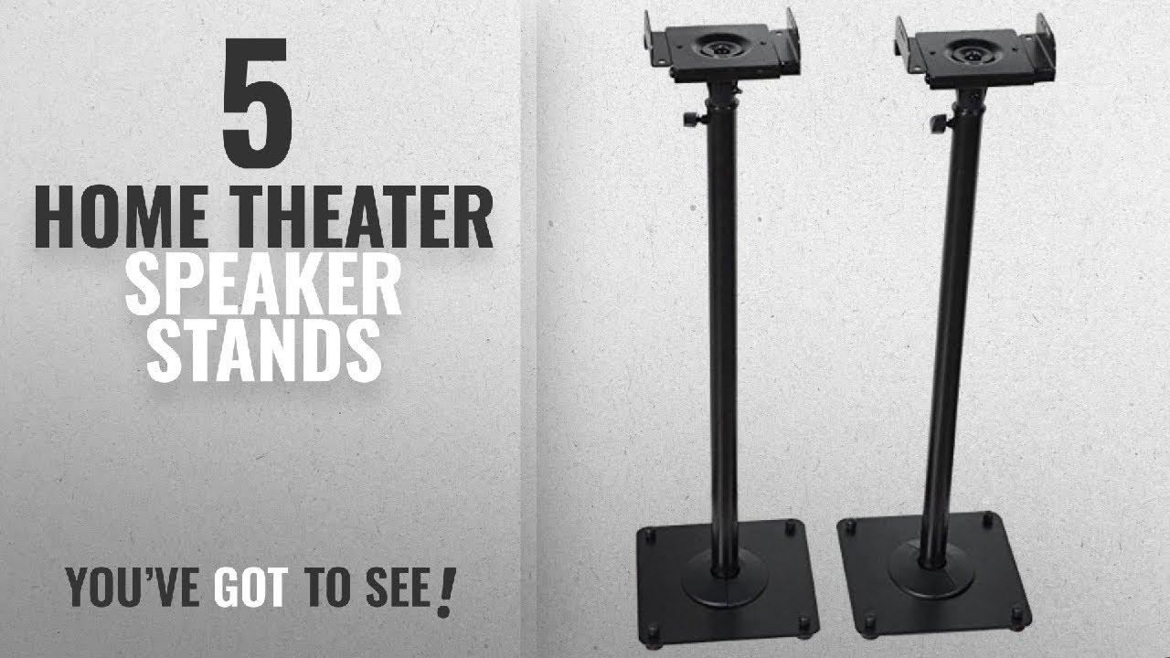 Top 5 Home Theater Speaker Stands 2018 VideoSecu 2 Heavy Duty PA