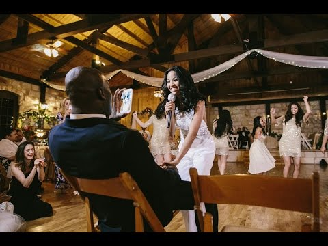 Nika's Wedding Surprise: Beyoncé Bridesmaids Flashmob//@DiwaDoll on Instagram