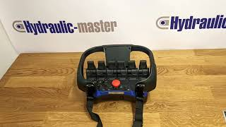 Hydraulic valve 6 functions 120l/min (33GPM) Full proportional 24 V  Crane + Scanreco Radio Remote Control 6 function video