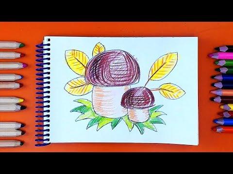 Видеоурок рисуем карандашами для детей