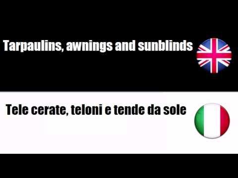 English-Italian - Soft Furnishings
