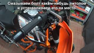Обзор и установка рычагов тормоза и сцепления на Duke125, 200, 390