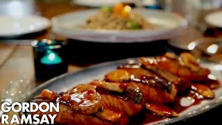Teriyaki Salmon with Soba Noodle Salad  Gordon Ramsay