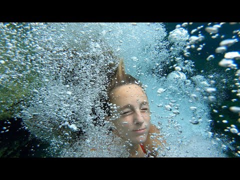 Carla Underwater swimming in a Natural swimming pool part 2