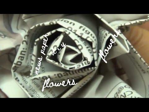 DIY Newspaper Roses - Cheap + Easy | Preeti Petals