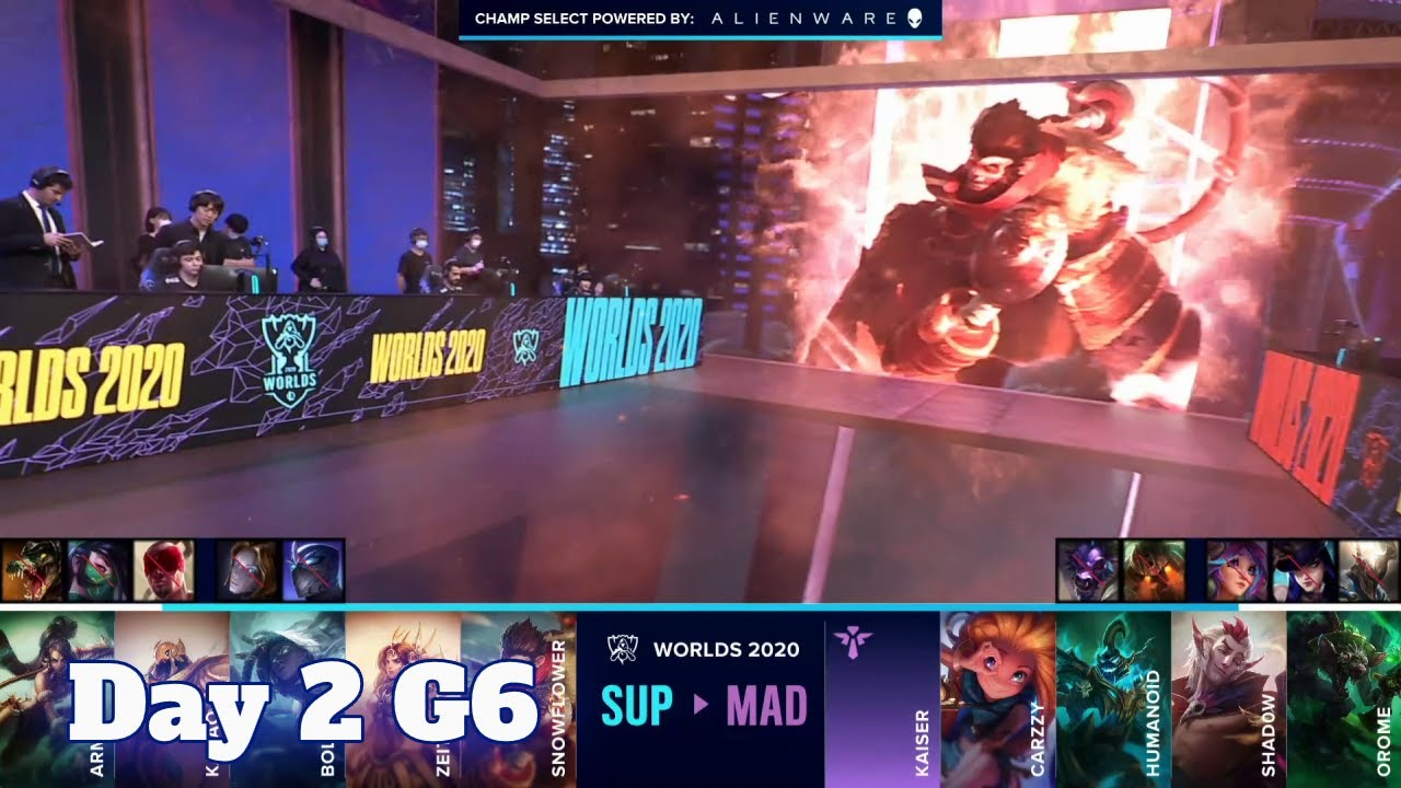 Download SUP vs MAD | Day 2 Play-Ins S10 LoL Worlds 2020 | SuperMassive vs Mad Lions Full Game