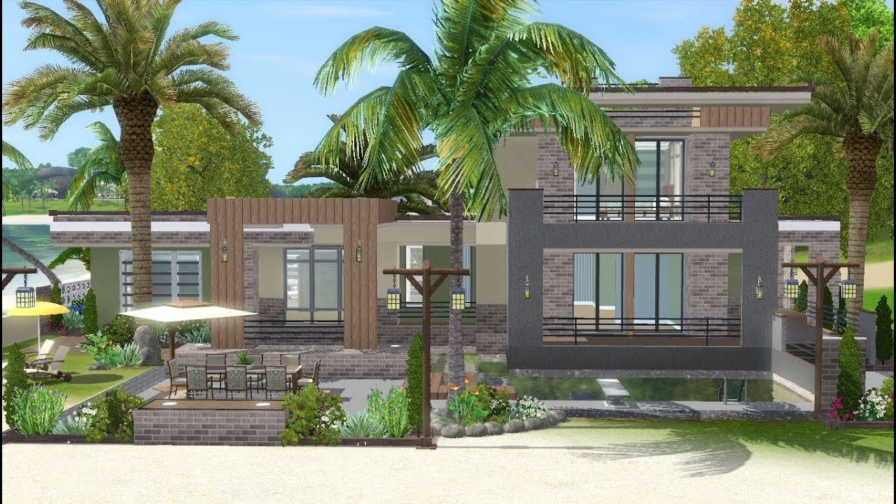 Small Bedroom Floor Plan Ideas The Sims 3 House Building Lagoon Beach W Simlinks
