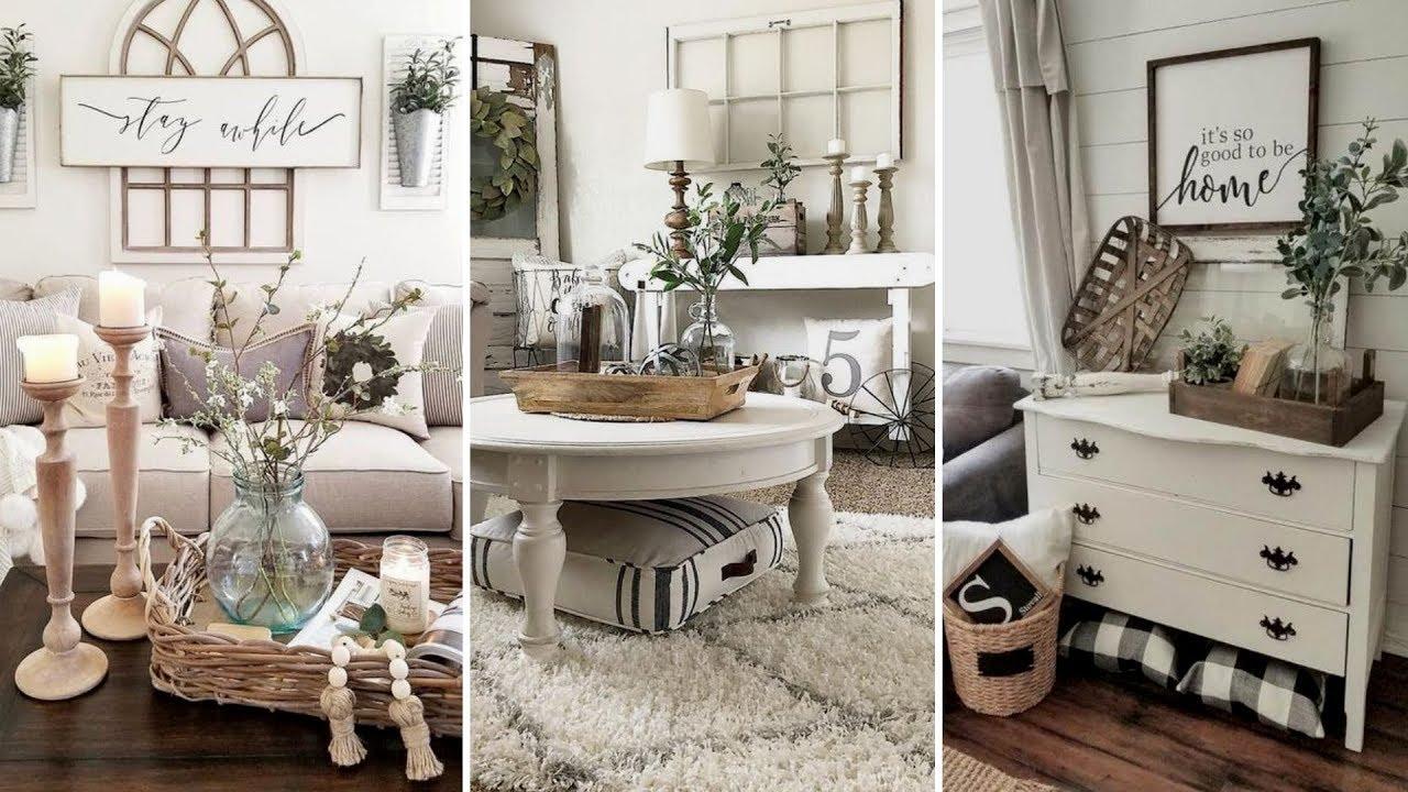 DIY Farmhouse Style Living Room Decor Ideas
