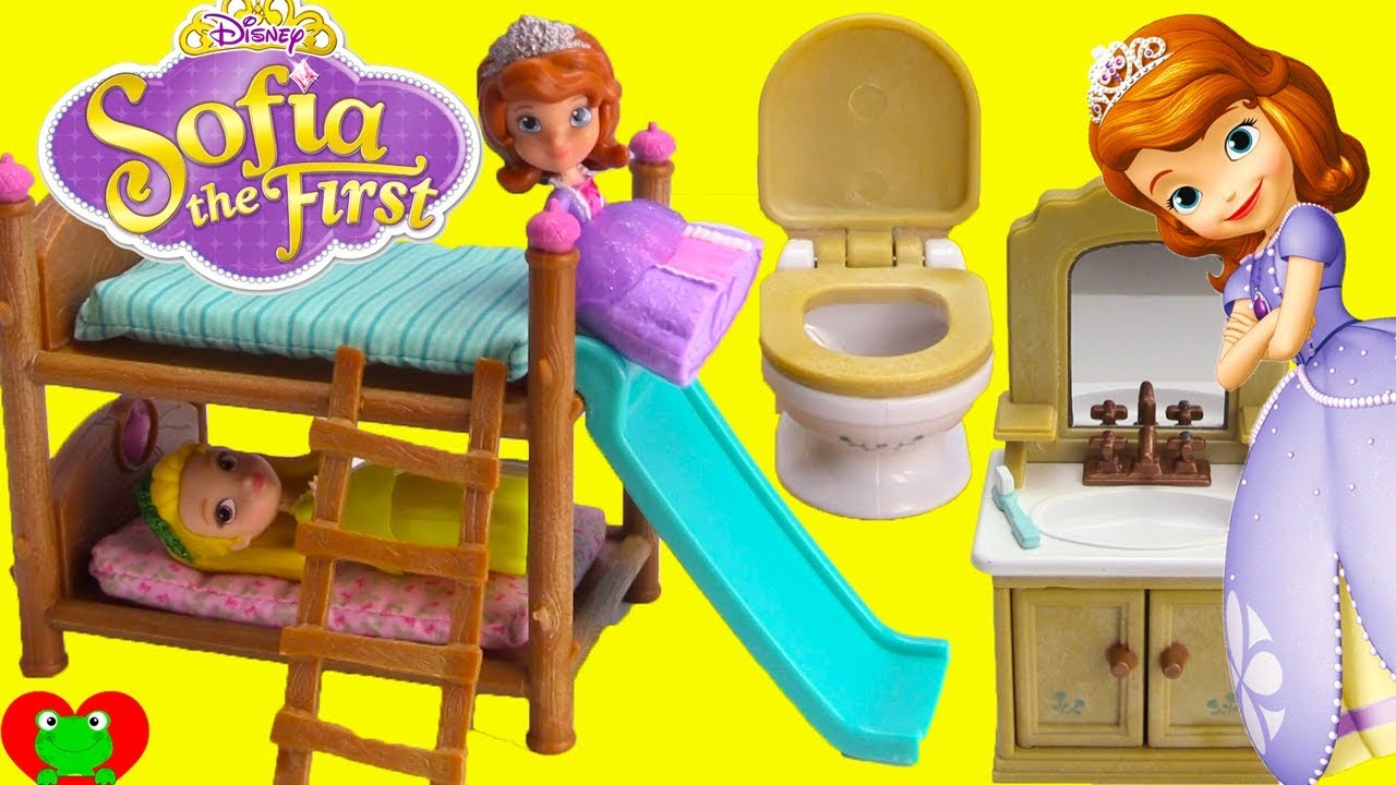 Disney Princess Sofia The First And Amber Bedtime Routine And Bunk