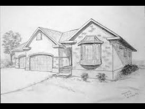 How to draw a realistic house tutorial youtube Draw your house