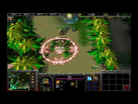 Warcraft III 黃XD 法傷型態果實~.~關羽...朱然