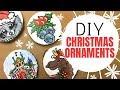 DIY Wooden Christmas Ornaments Acrylic Painting Tutorial: Moose, Silver Bells, Santa's Workshop